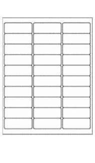 Box of Labels (100 sheets) - 3 x 10 Adhesive / Removable Labels (30 labels per page)