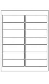 Box of Labels (100 sheets) - 2 x 7 Adhesive / Removable Labels (14 labels per page)