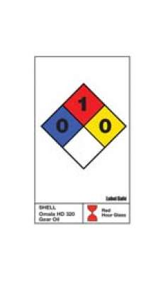 "NFPA Label - 2"" x 3.25"" - Water Resistant Paper  (1 sheet of 10 labels)"