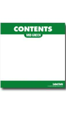 "Content Label - Water Resistant - 3.25"" x 3.25 - Mid Green"