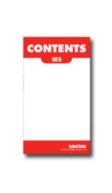 "Content Label - Adhesive  - 2"" x 3.5"" - Red (10 per page)"