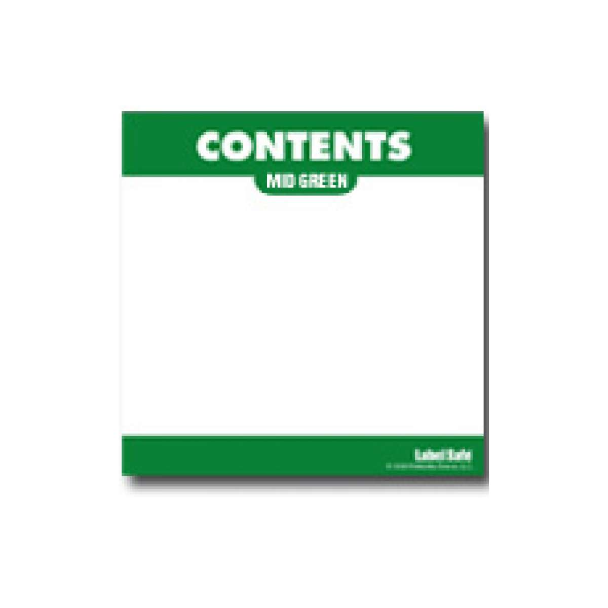 """Content Label - Adhesive  - 3.25"""" x 3.25"""" - Mid Green"""