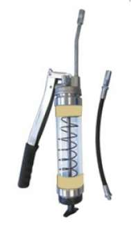 Heavy Duty Clear Lever Grease Gun - Beige