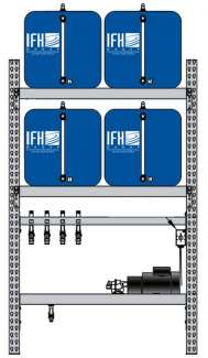 4 container system (2x2) - 15 gallon tanks