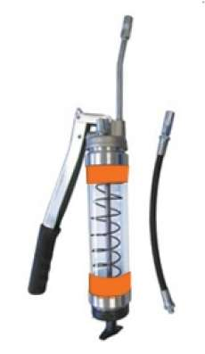 Heavy Duty Clear Lever Grease Gun - Orange