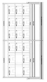 3 x 6 - 70 Gallon (265 L) / 140 Gallon (550 L) Poly Container System