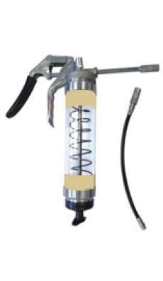 Heavy Duty Clear Pistol Grip Grease Gun  - Beige