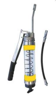 Heavy Duty Clear Lever Grease Gun - Yellow