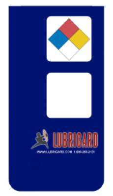 Mini Tank Label (Adhesive) - Blue