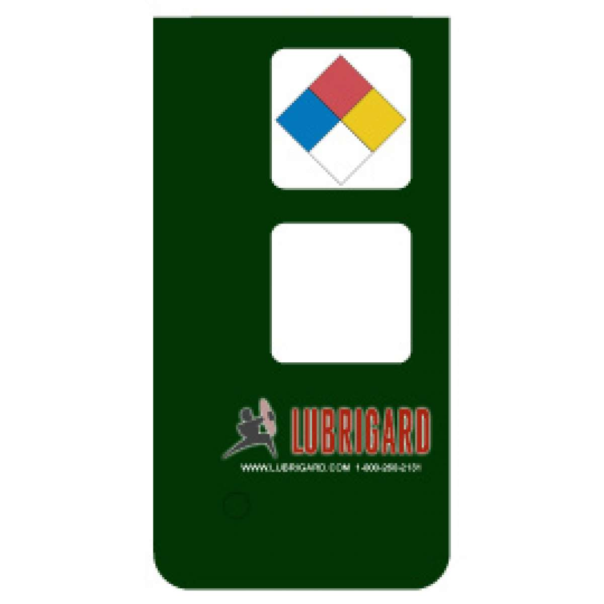 Mini Tank Label (Adhesive) - Dark Green