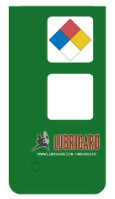 Mini Tank Label (Adhesive) - Mid Green