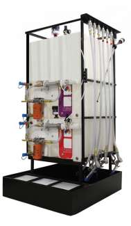 1 X 70 Gallon (265L), 1 x 145 Gallons (550L) Poly Container System