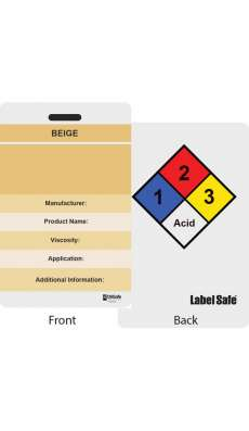 "Custom ID Label - 2.2"" x 3.4"" - Plastic Card - Double Sided - Beige"