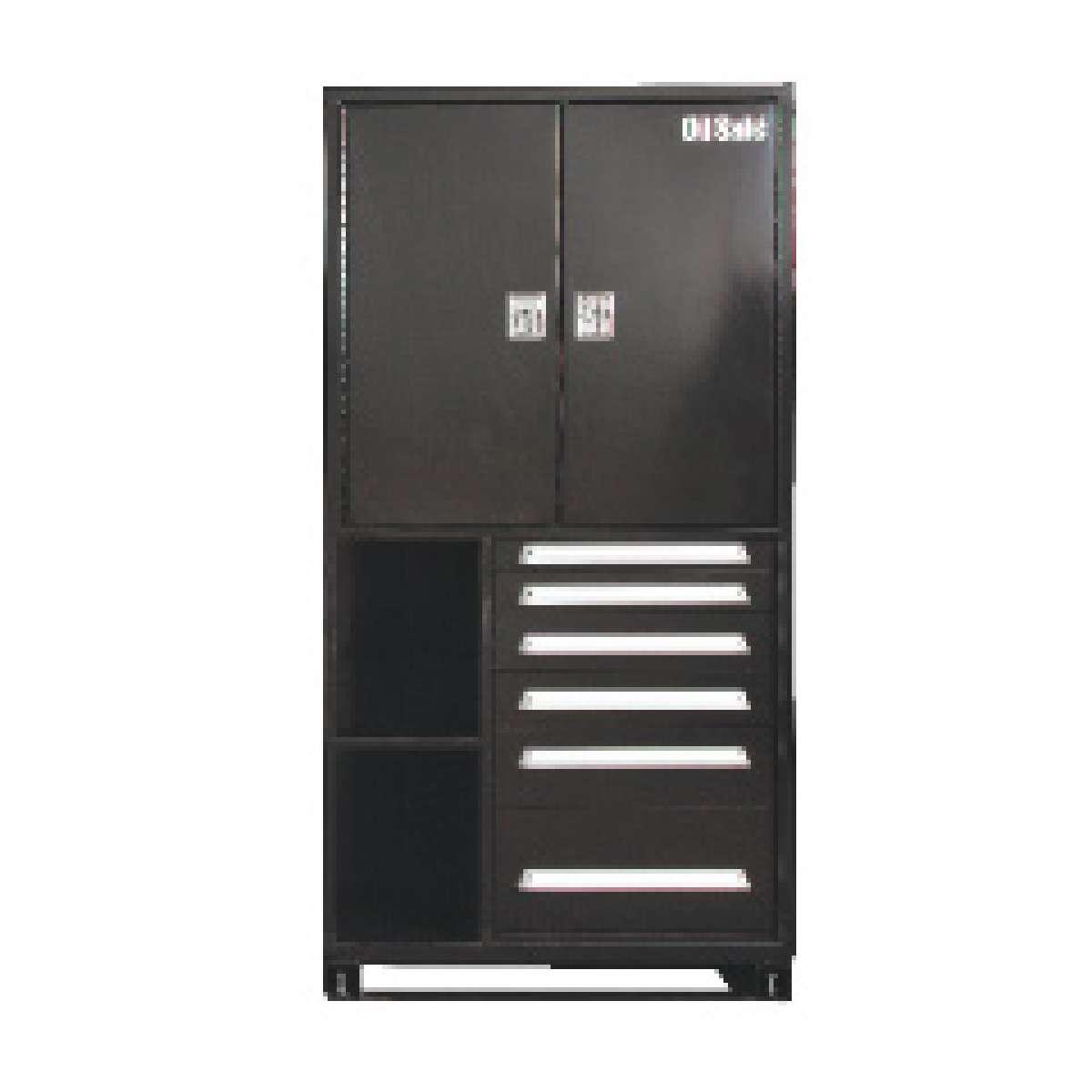 Fluid defense bulk storage cabinet black