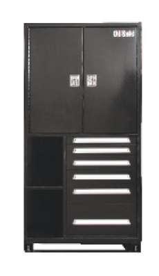 Oil Safe Bulk Storage Cabinet (Black)
