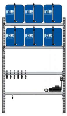 6 container system (1X6) with Diverter Systems