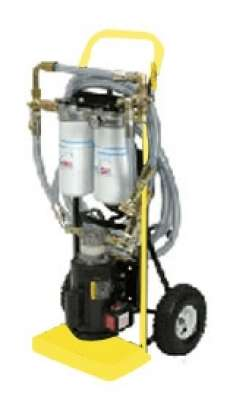 5 GPM Dual Stage Filtration Cart - Yellow