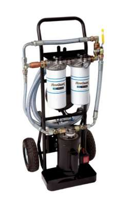 5 GPM, 1HP 115 vac Dual Stage Filtration Cart