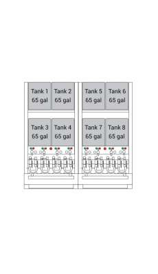 Bulk Oil Storage System Advanced - 8 x 65 Gallon