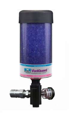 "Gearbox Adapter ISO B NPT, 1"" Drain, 3/4"" Fill, 2"" Fill Tube, DC-VG-4 Breather, Black"