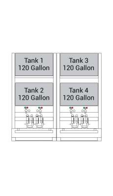 Bulk Oil Storage System Advanced - 4 x 120 Gallon