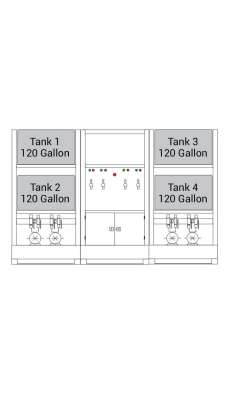 Lubrication Work Center - 4 x 120 Gallon