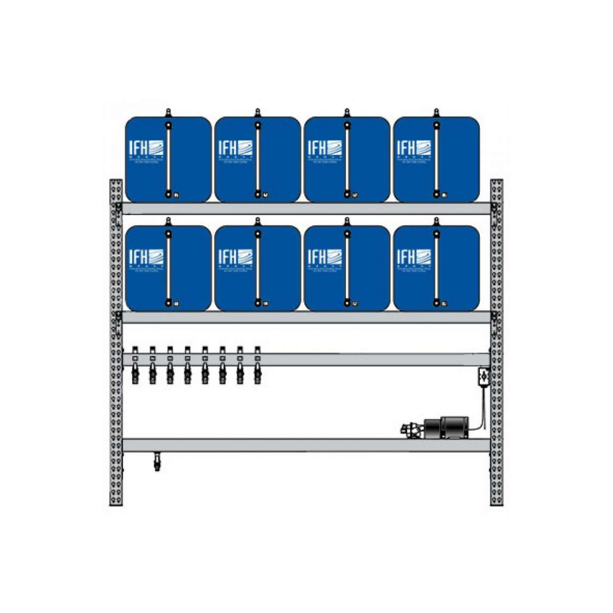 8 container system (2X4)