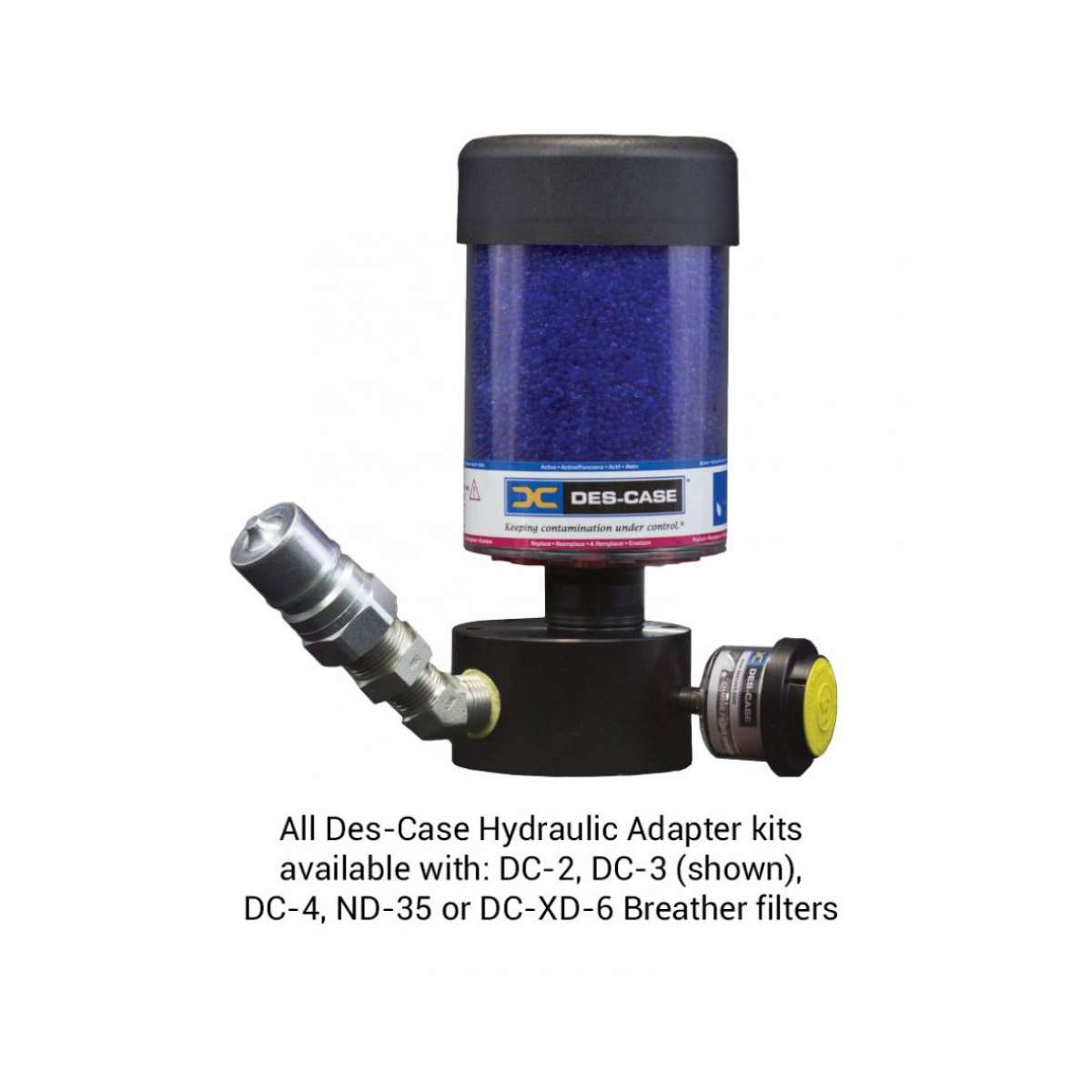 Custom Hydraulic Adapter - Blue