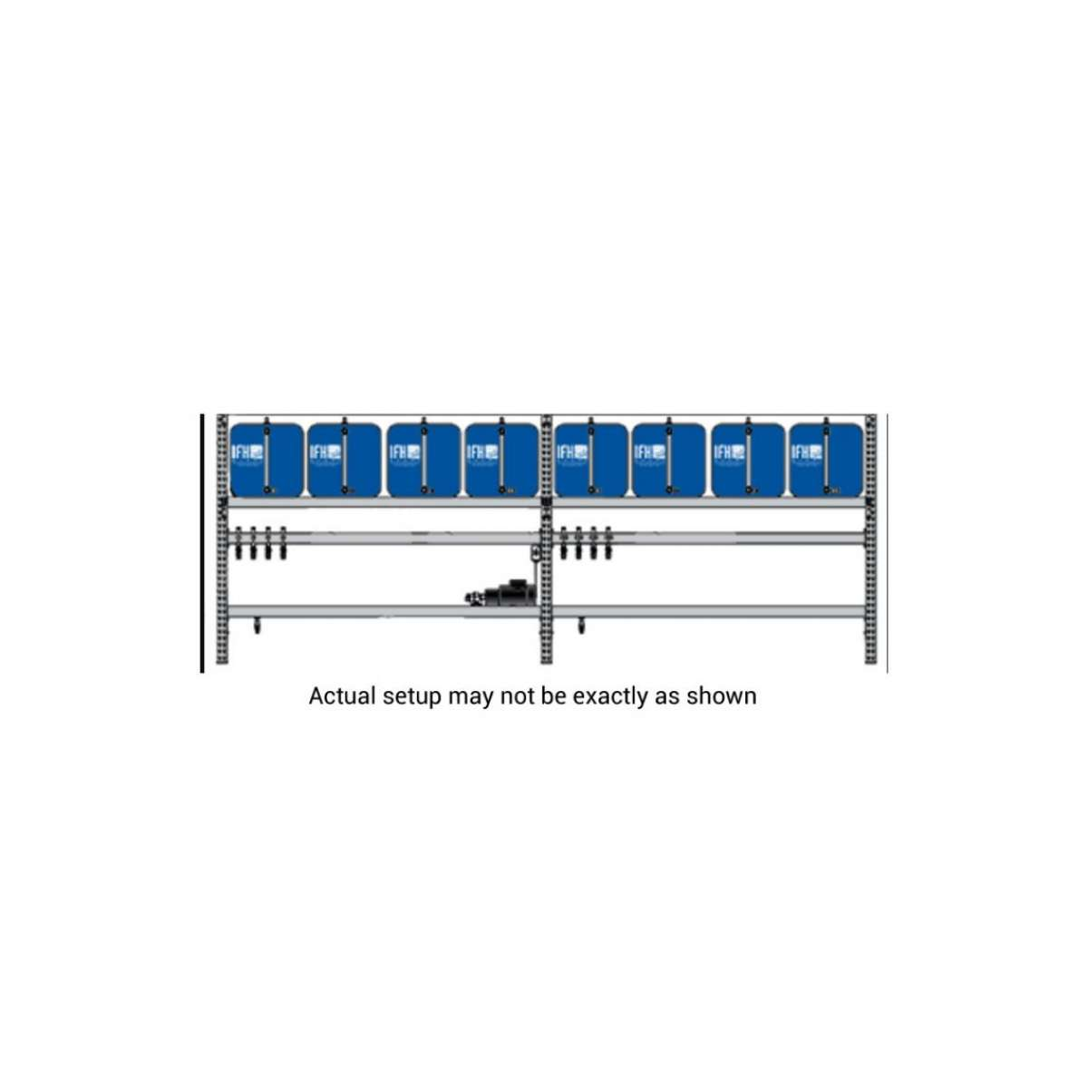 8 container system (1X8) with Dual Filter Assemblies and  3-way Diverter Systems