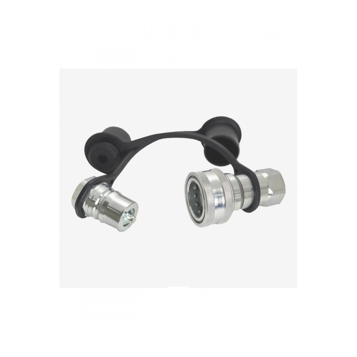 """3/4"""" NPTF Quick Connects ISO-B M/F Steel Zinc Plated"""