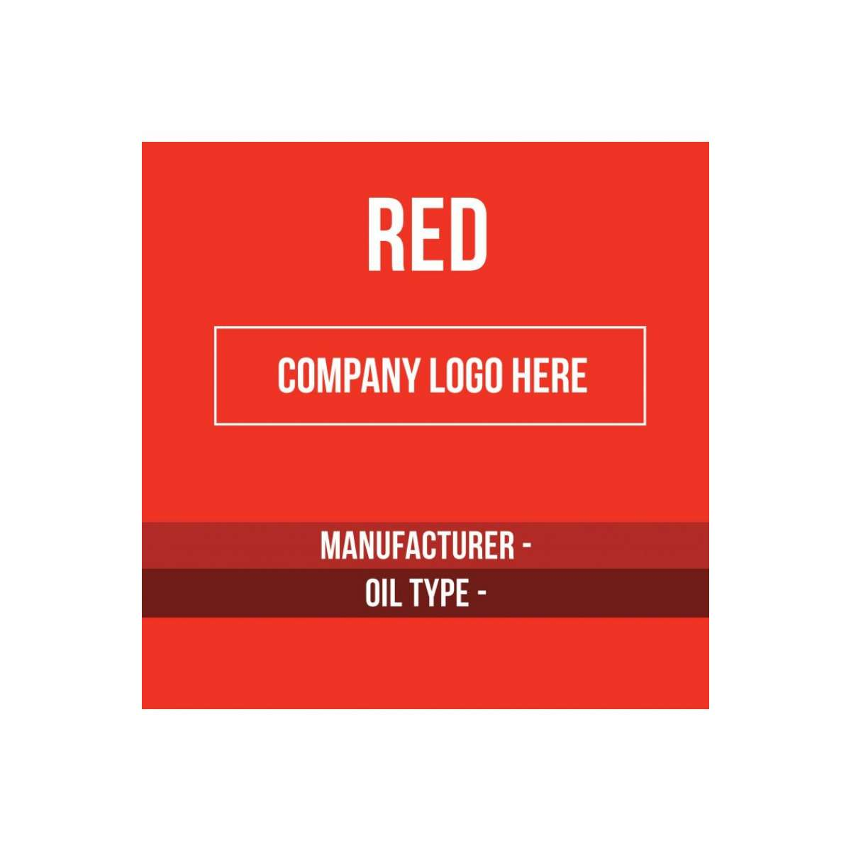 Content Label 8x8 - Red