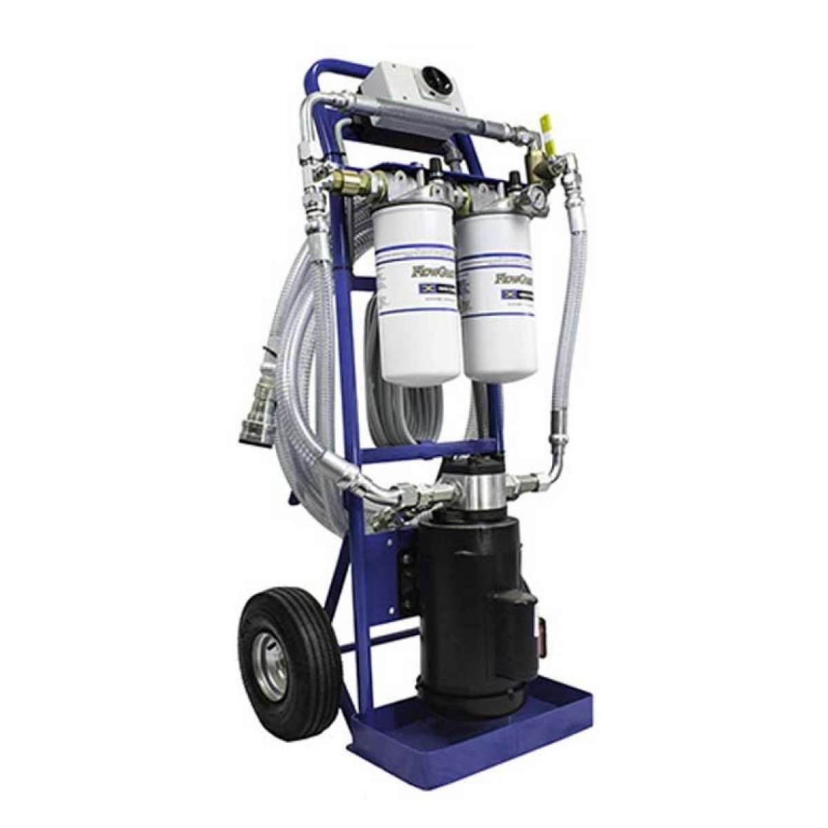 2 GPM 115 vac Dual Stage Filtration Cart 320 Viscosity - Purple