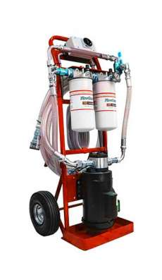 2 GPM 115 vac Dual Stage Filtration Cart 460 Viscosity - Red