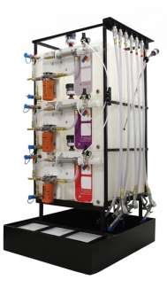 3 X 70 Gallon (265 L) Poly Container System with Hydraulic Hose and Upgraded Disp Handle