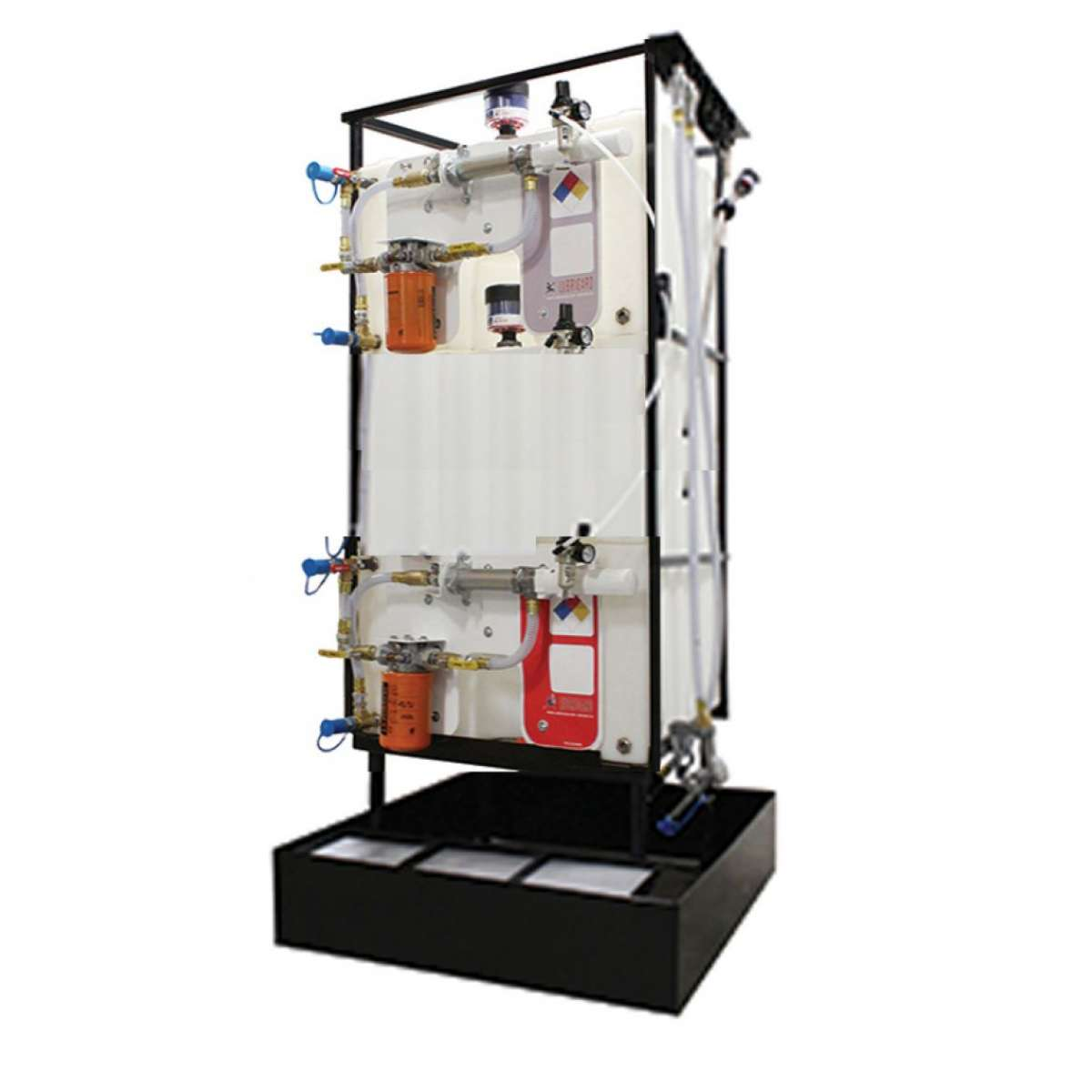 2 X 145 Gallon (550 L) Poly Container System with Hy hose kit and upgraded Dispensing Handle
