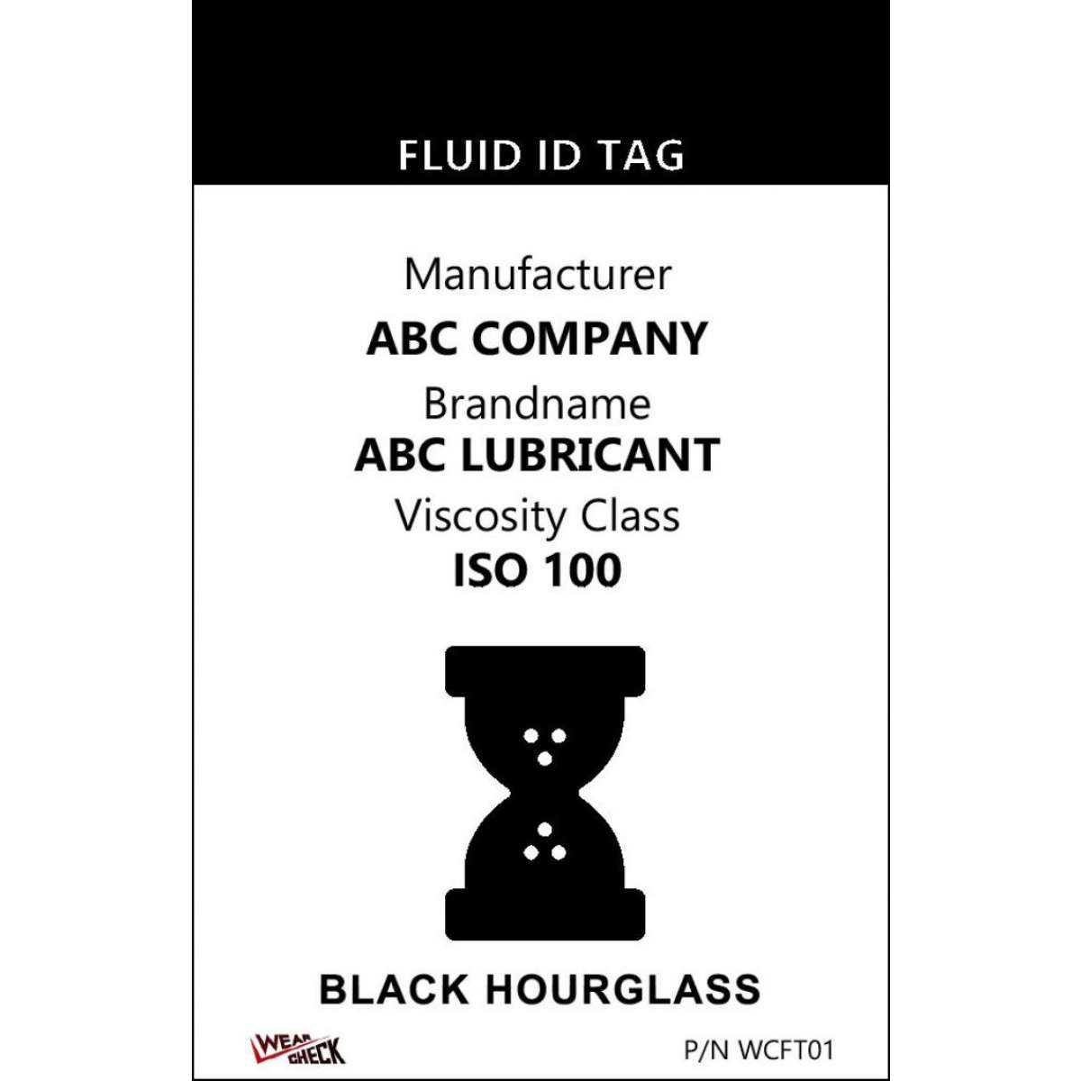 "Custom ID Label - 2.2"" x 3.4"" - Plastic Card - Single Side - Black"