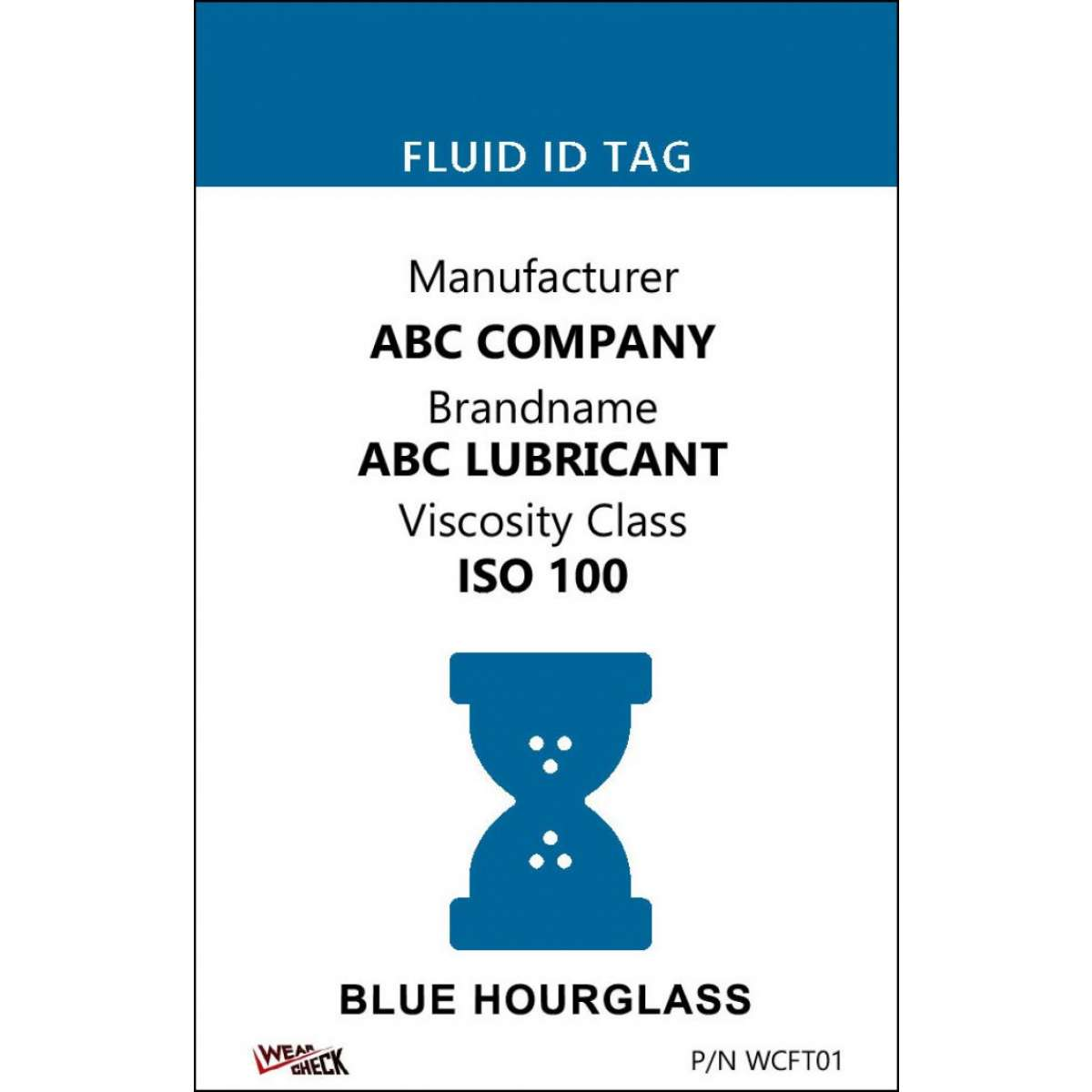 "Custom ID Label - 2.2"" x 3.4"" - Plastic Card - Single Side - Blue"