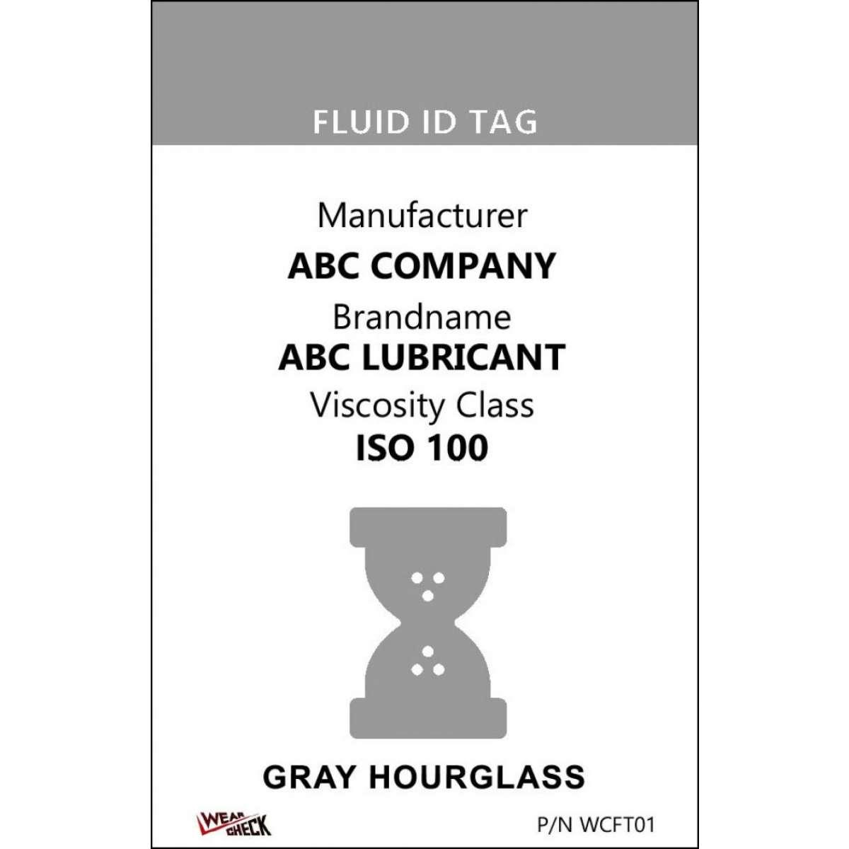 "Custom ID Label - 2.2"" x 3.4"" - Plastic Card - Single Side - Gray"