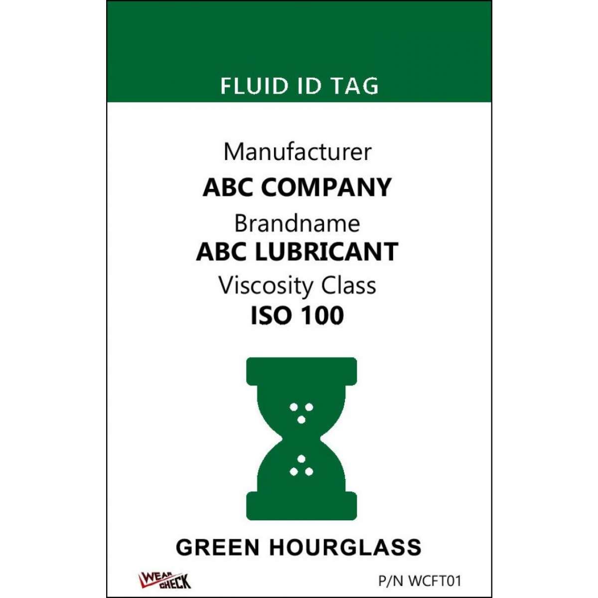 "Custom ID Label - 2.2"" x 3.4"" - Plastic Card - Single Side - Green"