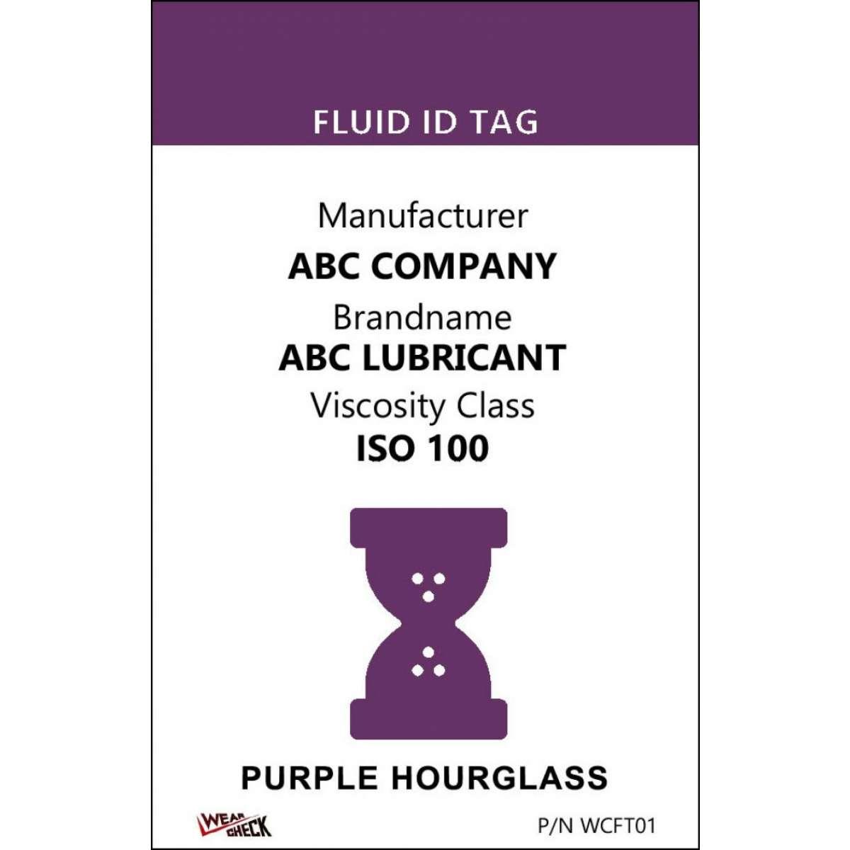 "Custom ID Label - 2.2"" x 3.4"" - Plastic Card - Single Side - Purple"