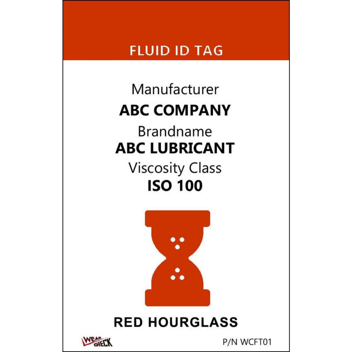 "Custom ID Label - 2.2"" x 3.4"" - Plastic Card - Single Side - Red"