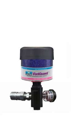 Gearbox Adapter ISO B NPT, 1inch Drain, 3/4inch Fill (Stainless Steel), 2inch Fill Tube, DC-VG-1 Breather, Black