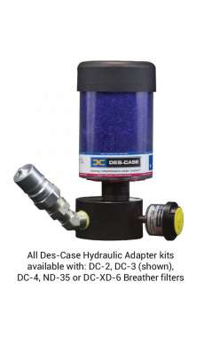 "Hydraulic Adapter ISO B NPT, 3/4"" Drain, 1/2"" Fill, 12"" Fill Tube, Std Minimess Smpl Valve, 10"" Sample Tube, DC-EX-3 Breather, Black"