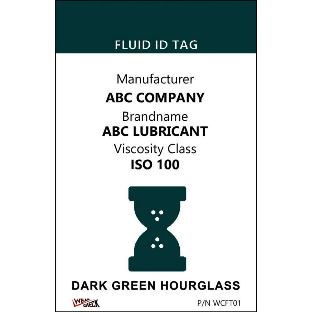 "Custom ID Label - 2.2"" x 3.4"" - Plastic Card - Dual Sided - Dark Green"
