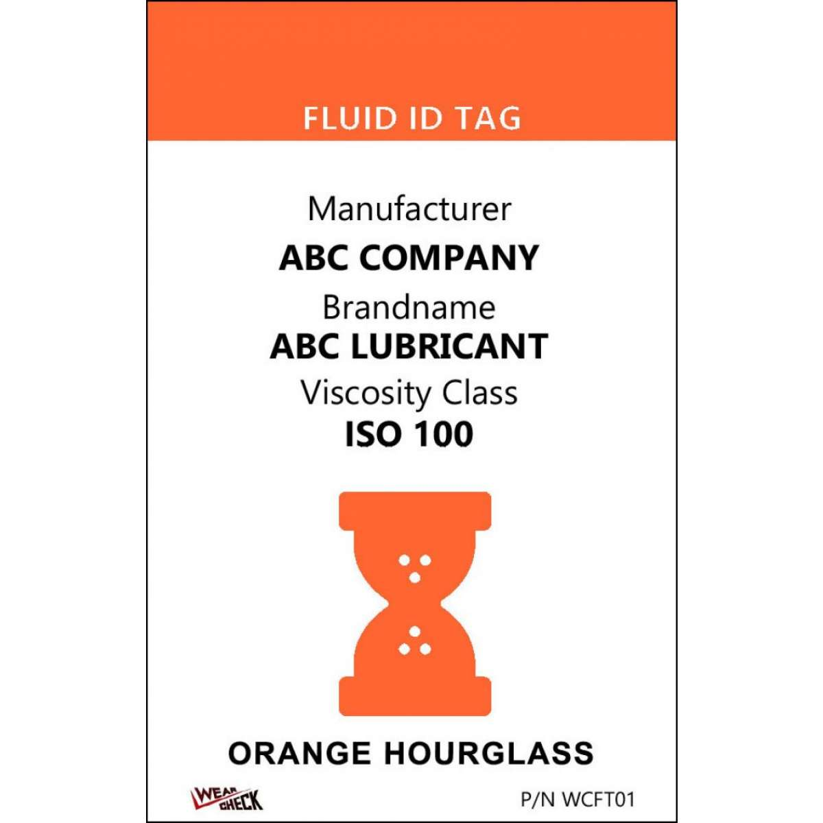 "Custom ID Label - 2.2"" x 3.4"" - Plastic Card - Dual Sided - Orange"