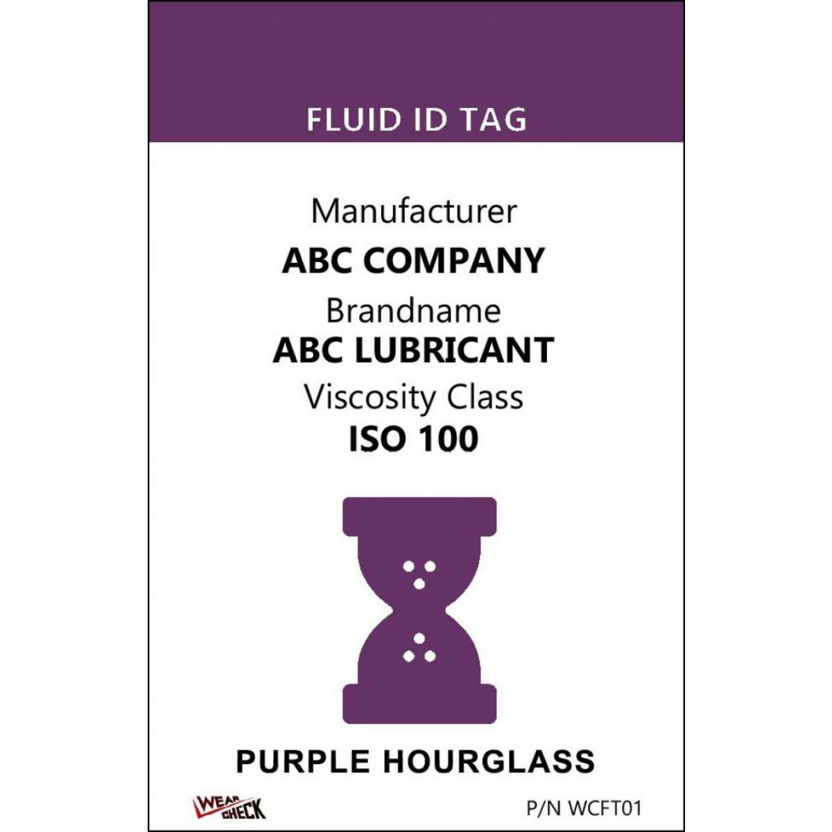 "Custom ID Label - 2.2"" x 3.4"" - Plastic Card - Dual Sided - Purple"