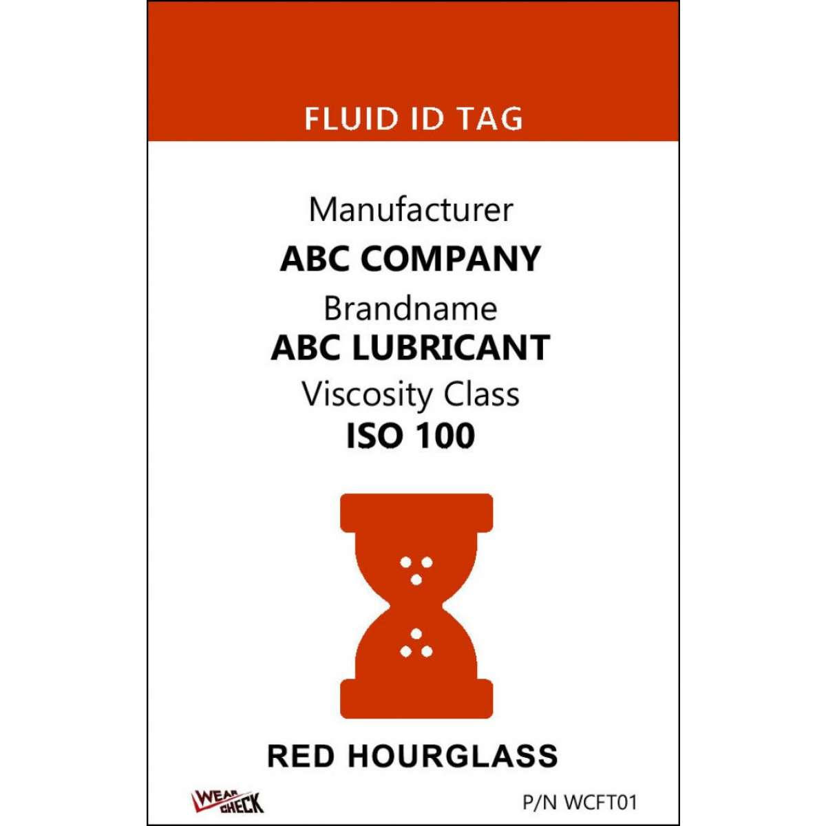 "Custom ID Label - 2.2"" x 3.4"" - Plastic Card - Dual Sided - Red"