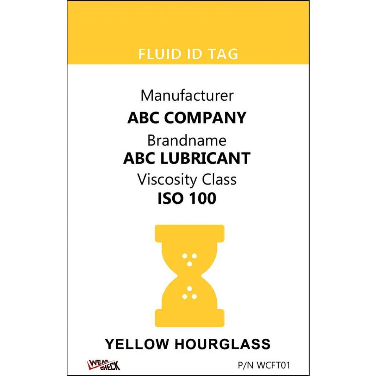 "Custom ID Label - 2.2"" x 3.4"" - Plastic Card - Dual Sided - Yellow"