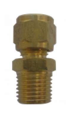 "Easylube Fitting 8mm PU x 1/4"" (M) STRAIGHT (BRASS)"