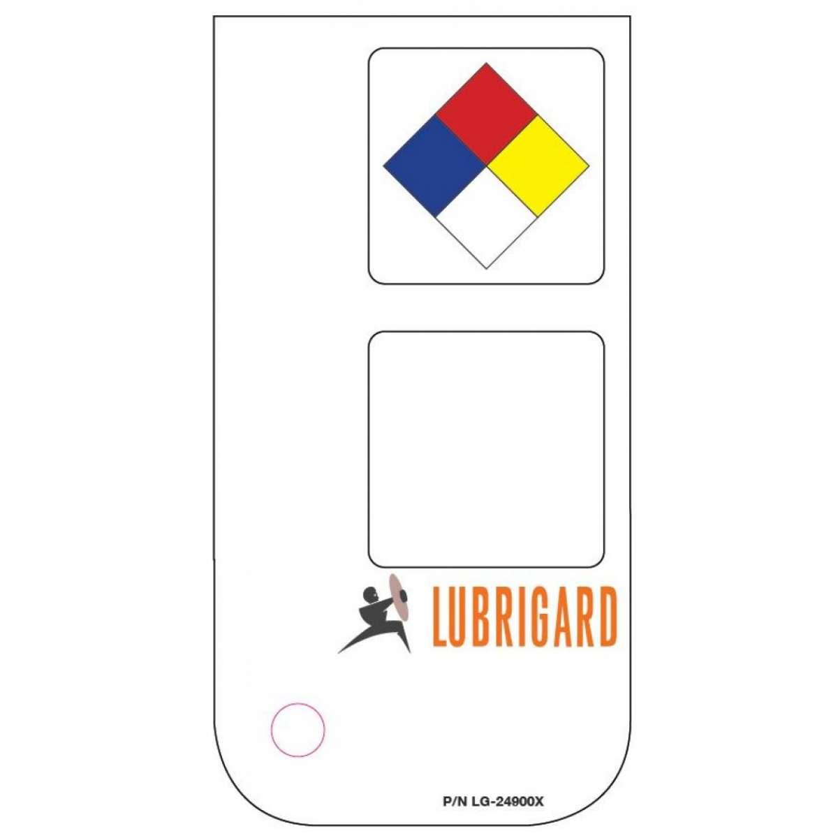 Mini Tank Label (Adhesive) - White